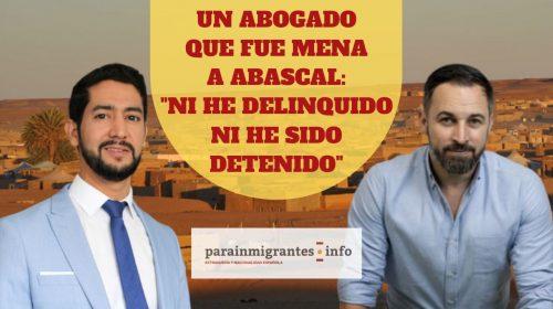 Un abogado que fue MENA a Abascal: «Ni he delinquido, ni he sido detenido»