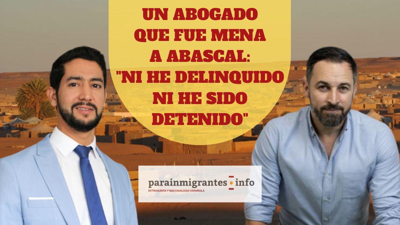 """Un abogado que fue MENA a Abascal: """"Ni he delinquido, ni he sido detenido"""""""