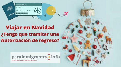 Autorización de regreso: Navidad 2019