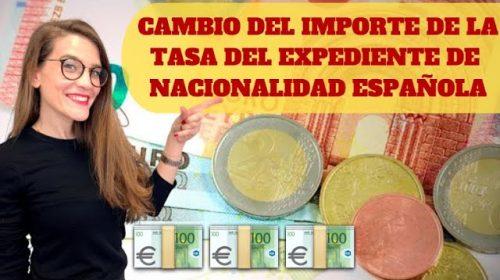 Cambio del importe de la Tasa Expediente de Nacionalidad española: ¿Debo pagar la diferencia?