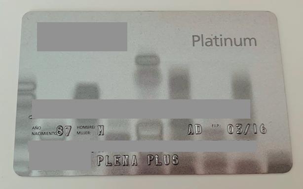 tarjeta sanitaria privada