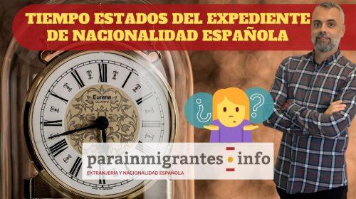 Tiempo en cada Estado del Expediente de Nacionalidad Española