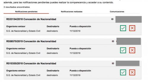 Resoluciones de Concesión de Nacionalidad Española: 11 Diciembre 2019.