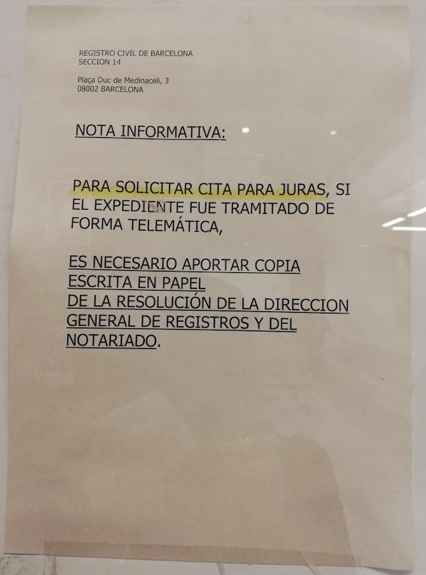 documentos de jura de nacionalidad