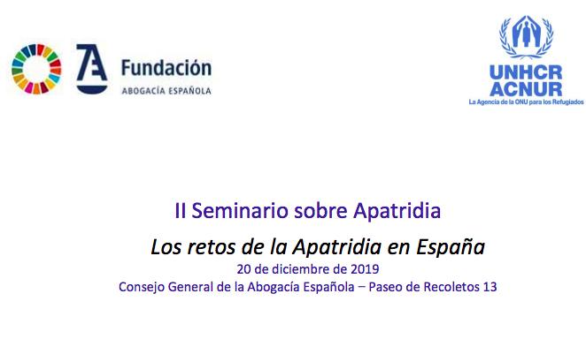 II seminario sobre apatridia