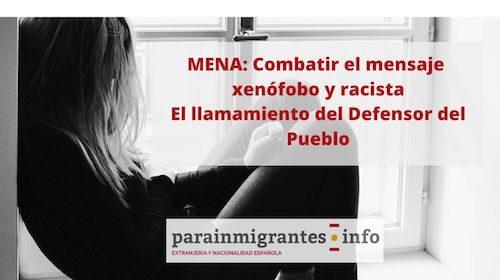 Mena: Combatir mensajes xenófobos y racistas