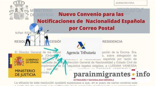 Convenio para la Notificaciones de  Nacionalidad Española por Correo Postal