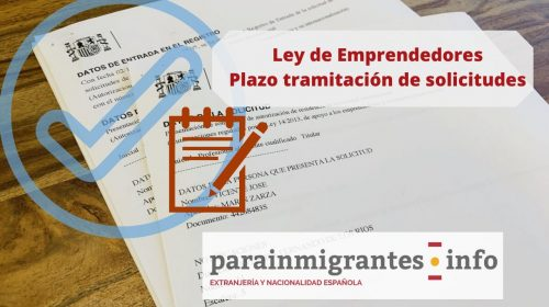 Ley de Emprendedores: Plazo tramitación de solicitudes