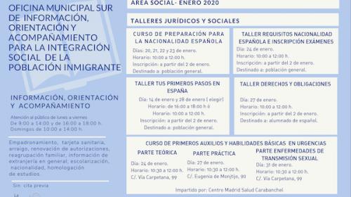 Integración Social de la Población Inmigrante-Programación Enero 2020