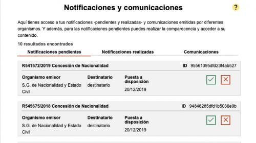 Resoluciones Nacionalidad Española 20 de diciembre de 2019