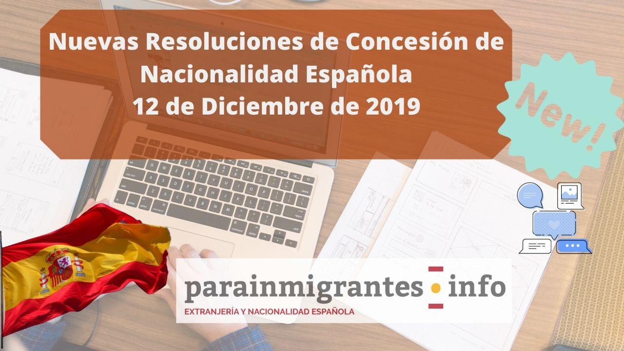 resoluciones de concesión de nacionalidad española