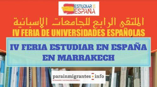 Marrakech será la sede de la IV Feria Estudiar en España