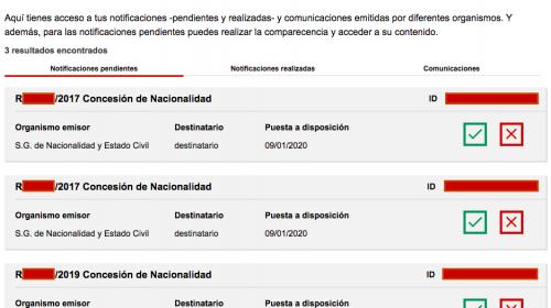 Resoluciones de Concesión de Nacionalidad Española 10 enero 2020
