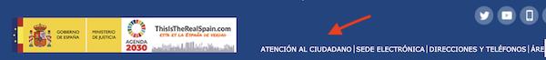 área de atención al ciudadano del Ministerio de Justicia