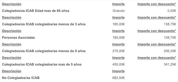 precios curso general de extranjeria