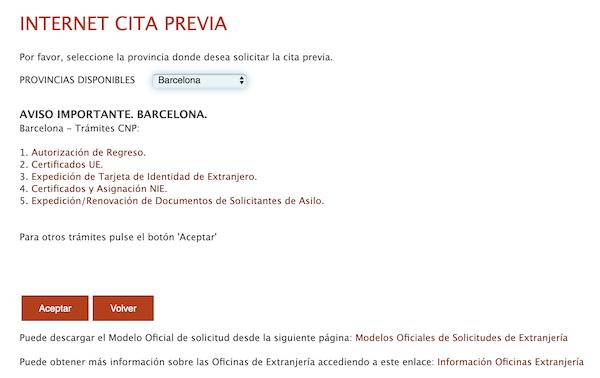 protección internacional barcelona