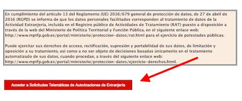 solicitud telemática de la autorización de residencia por reagrupación familiar
