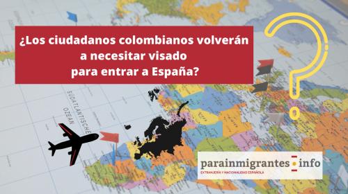 ¿Vuelve el visado para colombianos en 2020?
