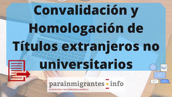 homologación de títulos extranjeros no universitarios