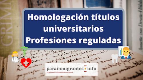 homologación de títulos universitarios