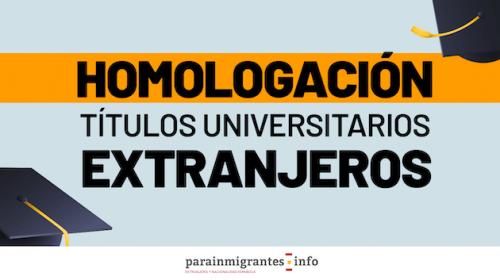 Homologación Títulos universitarios extranjeros que dan acceso a una profesión regulada en España