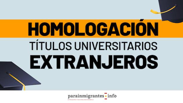 Homologación títulos universitarios extranjeros