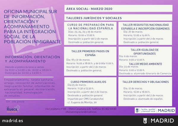 programa para la integración población inmigrante en Madrid