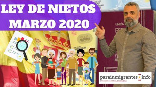 Ley de Nietos o Descendientes – Marzo 2020