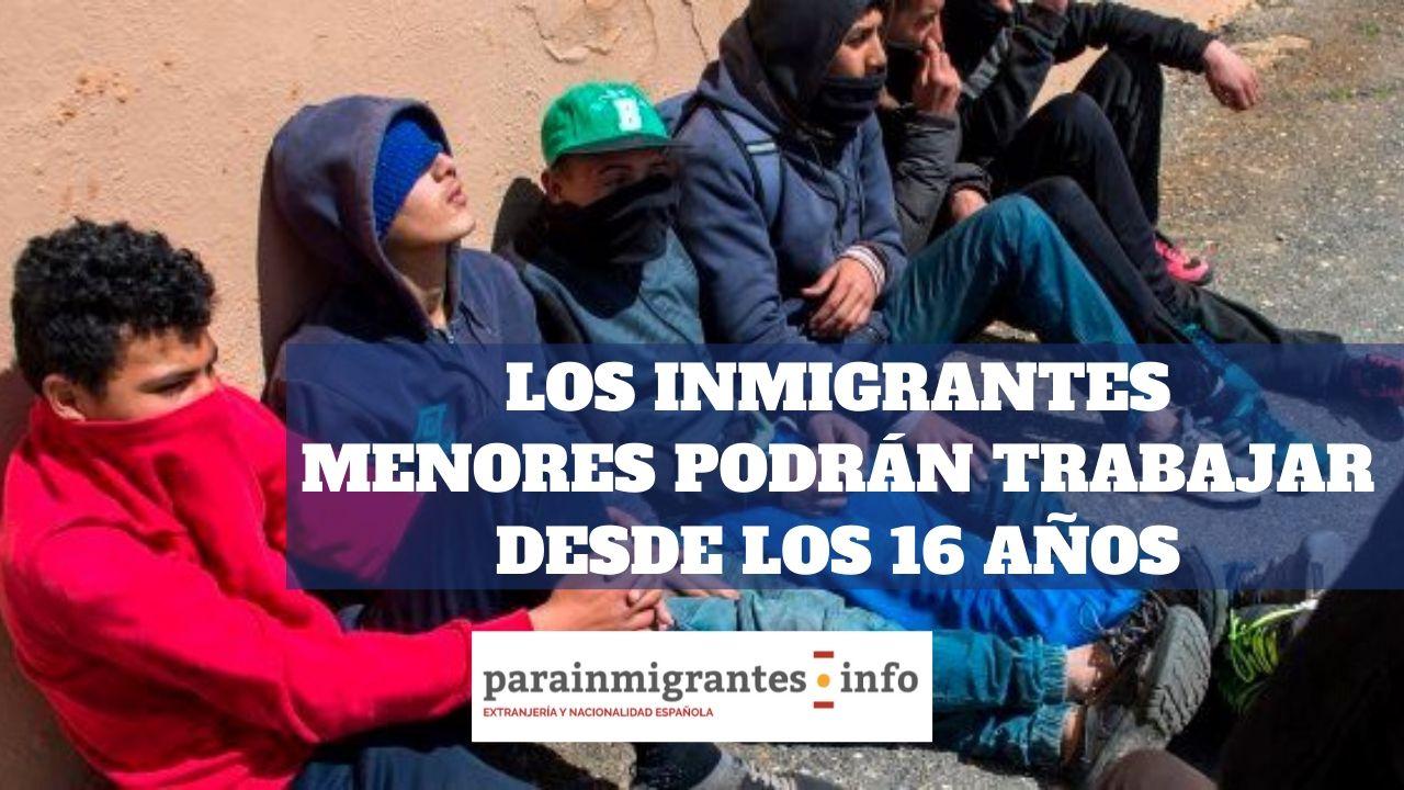 Los inmigrantes menores podrán trabajar desde los 16 años