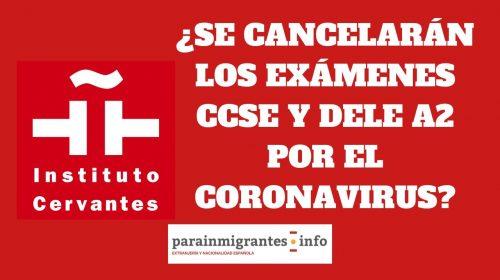 Instituto Cervantes: ¿cancela los exámenes ante el CORONAVIRUS?