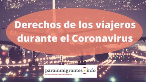 Derechos de los viajes durante la crisis del Coronavirus