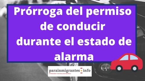 Prórroga de los permisos de conducir durante el estado de alarma
