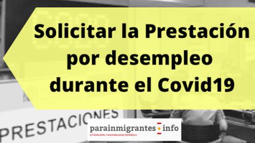 Solicitar la prestación por desempleo durante el Covid19