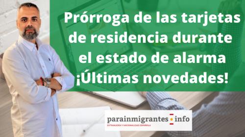 Prórroga de la validez de las tarjetas de residencia por el Coronavirus
