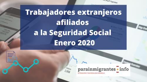 Trabajadores extranjeros afiliados a la Seguridad Social – Enero 2020