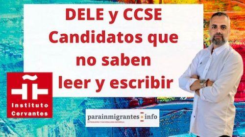 DELE y CCSE para candidatos que no saben leer y escribir