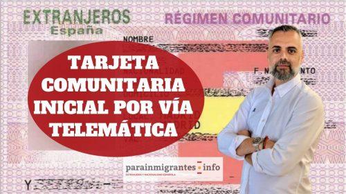 Tarjeta Comunitaria Inicial – Solicitud Telemática durante el Estado de Alarma