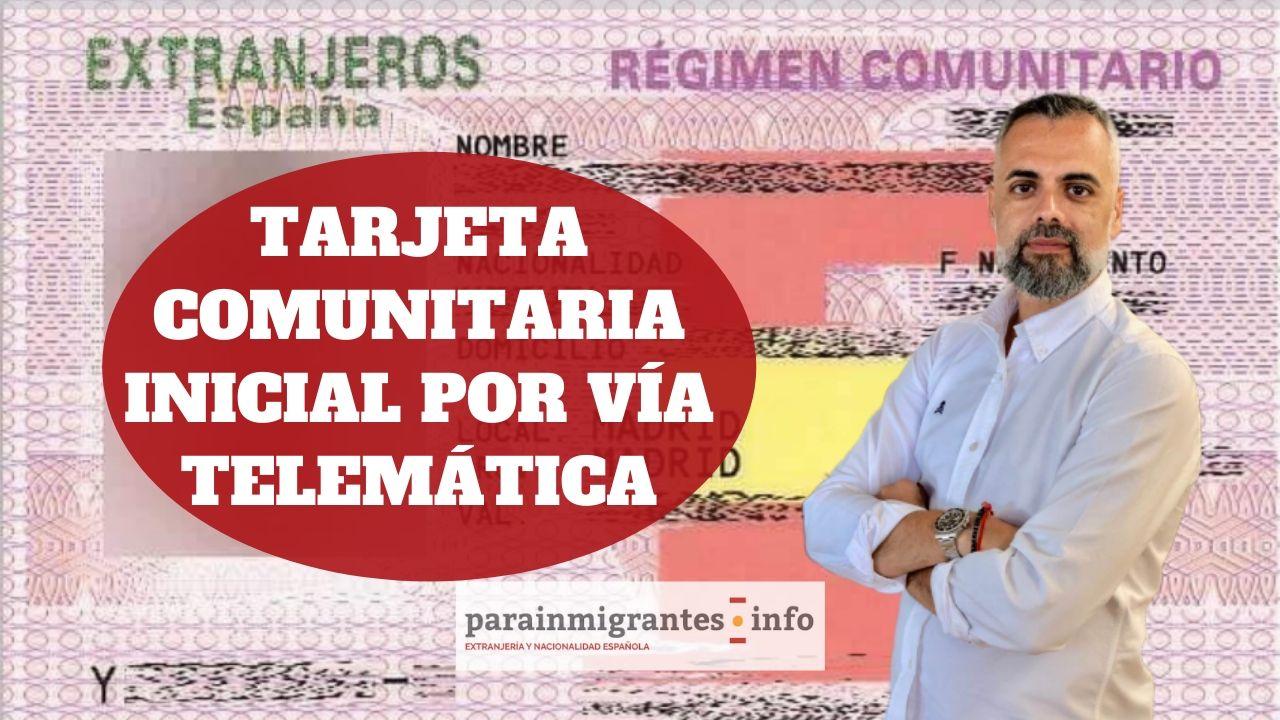 Tarjeta Comunitaria Inicial Presentación Telemática