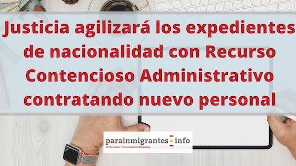 agilización de expedientes de nacionalidad española