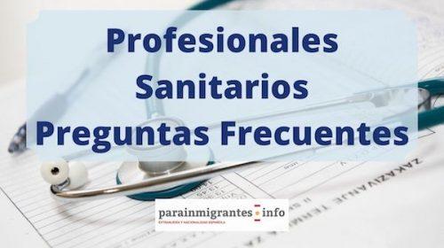 Profesionales Sanitarios Extranjeros: Preguntas Frecuentes