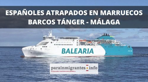 Españoles atrapados en Marruecos: Barcos Tánger-Málaga