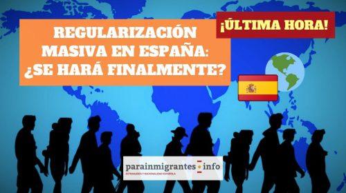 Regularización masiva: ¿se hará finalmente en España?