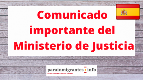 Comunicado importante del Ministerio de Justicia