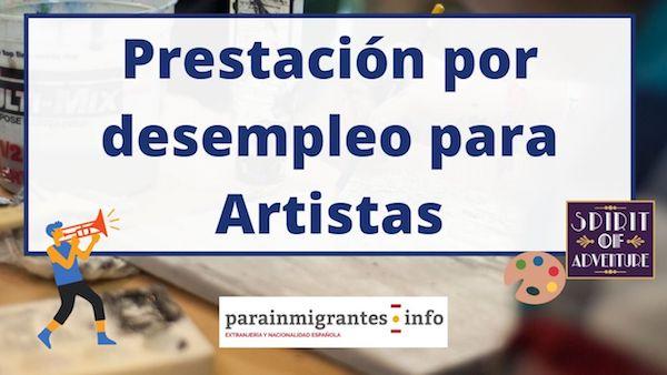 prestación por desempleo para artistas