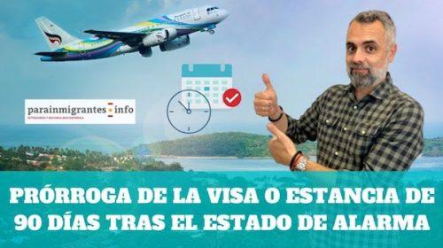Prórroga de la Estancia de Turista tras el estado de alarma