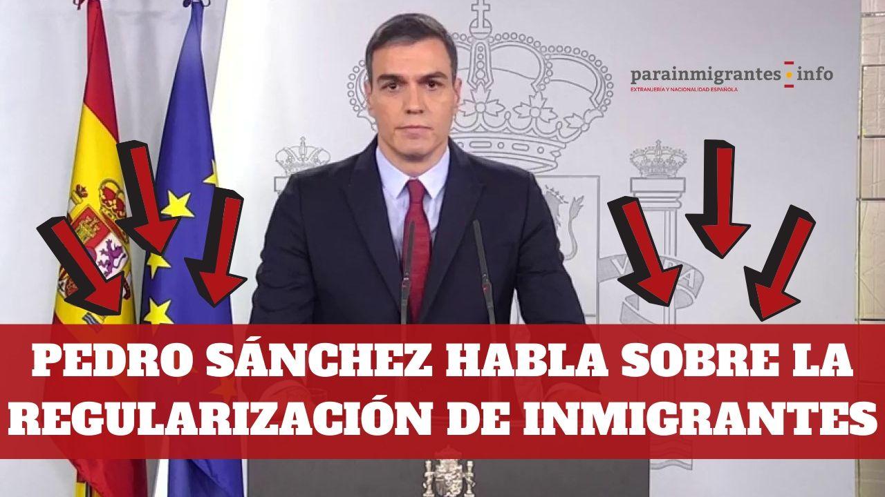 Pedro Sánchez habla sobre la regularización de inmigrantes