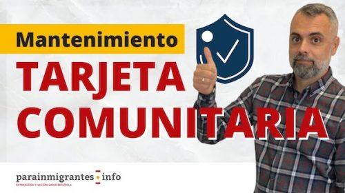 Mantenimiento de la Tarjeta Comunitaria: Control de Requisitos