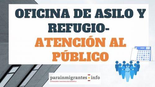 Oficina de Asilo y Refugio-Atención al Público