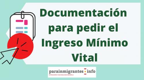 Documentación para pedir el Ingreso Mínimo Vital