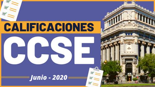 Calificaciones CCSE- Junio 2020